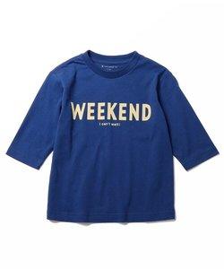 グラフィックプリント7分袖Tシャツ