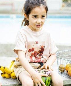 【パパママおそろい】【接触冷感】フタバフルーツコラボフォトTシャツ