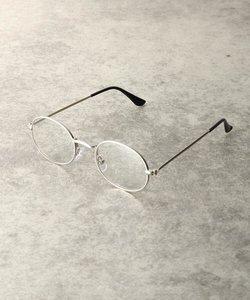 メタルフレームオーバル型メガネ(3048)