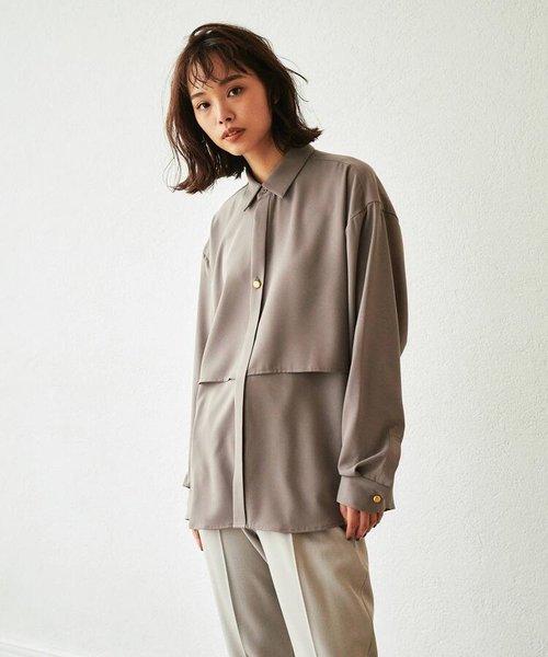 ダブルヨークデザインシャツ(ユニセックスアイテム)