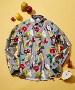 フルーツプリントオーバーシャツ(ユニセックスアイテム)
