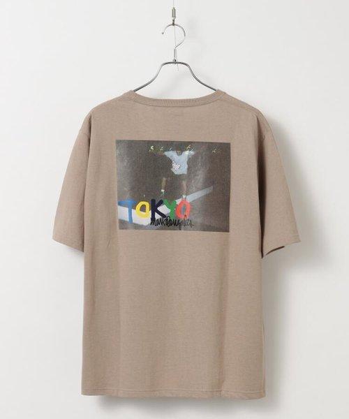 MARK GONZALES×tk.TAKEO KIKUCHI 別注バックプリントオーバーサイズTシャツ/マークゴンザレス