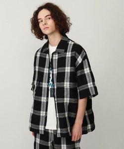 リネンワッシャーCPO 5分袖シャツ(セットアップ対応)