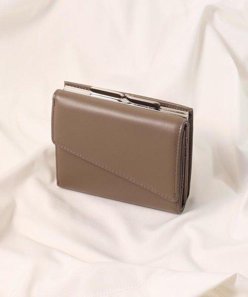イタリアンレザー gamaguchi二つ折り財布