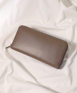 イタリアンレザー ロゴ型押し長財布