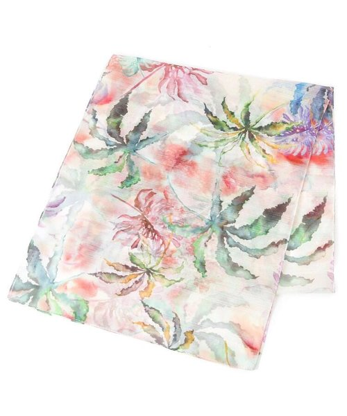 水彩リーフデザインスカーフ