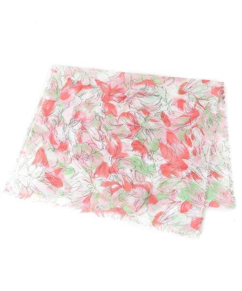 水彩フラワーデザインスカーフ
