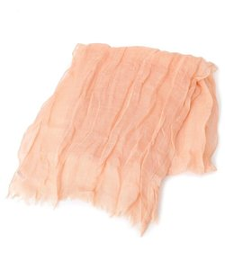 リネンブレンドしわ加工スカーフ