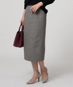ブラッシュグレンチェックタイトスカート