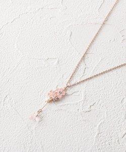 桜花びらモチーフプチネックレス