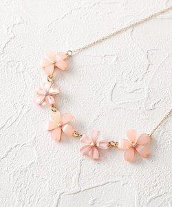 桜モチーフショートネックレス