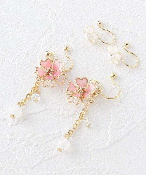 桜さがりセットノンホールピアス(イヤリング)