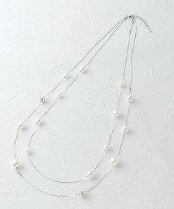 リズミカルパール二連ネックレス