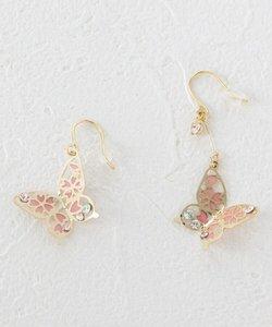 桜×バタフライピアス