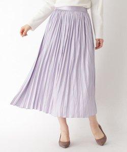 レザーライクプリーツロングスカート