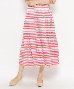 マルチボーダーロングスカート