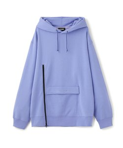 USEFUL ZIPPED PULLOVER HOODED SWEAT
