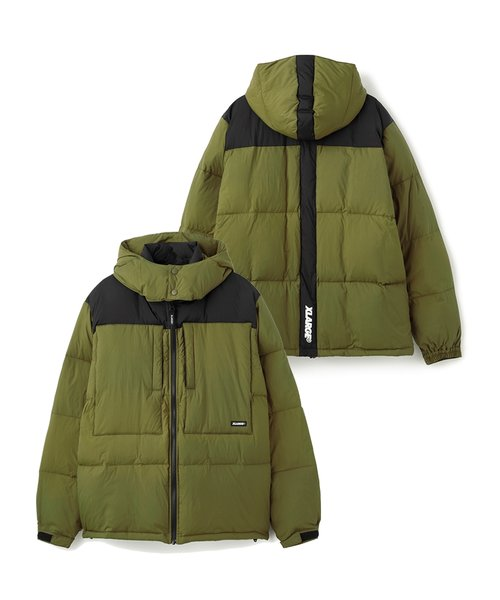 FRONT POCKET HOODED DOWN JACKET