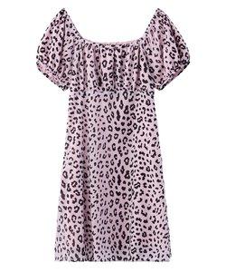 SHEER LEOPARD DRESS