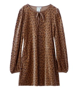 LEOPARD PUFF SLEEVE DRESS