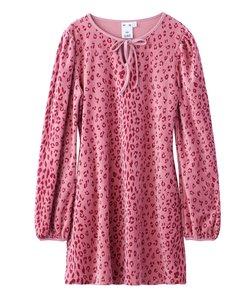 LEOPARD PUFF SLEEVE DRESS
