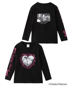X-girl × Charles Peterson HEART L/S TEE