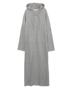 WAFFLE HOODED DRESS