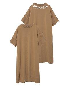RIB SLEEVE DRESS