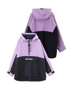 BIG HOODED HALF ZIP JACKET