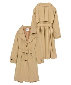 GATHERED BACK TRENCH COAT