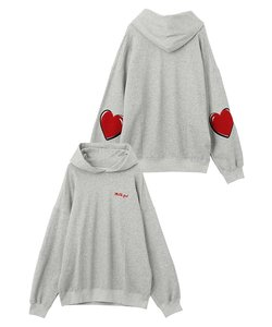 HEART ELBOW PATCH SWEAT HOODIE