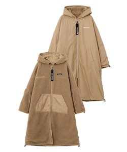 REVERSIBLE HOODED BOA LONG COAT