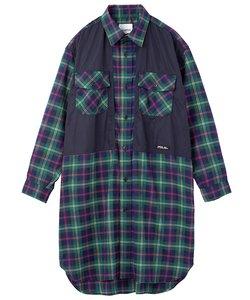 PLAID OVERSIZED SHIRT DRESS