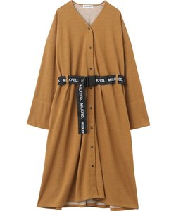 LOGO BELTED GOWN