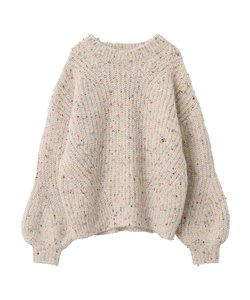 COLOR NEP KNIT TOP