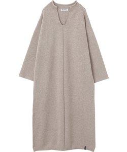 SPLIT NECK KNIT DRESS