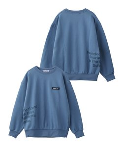 PRINTED MESSAGE SWEAT TOP