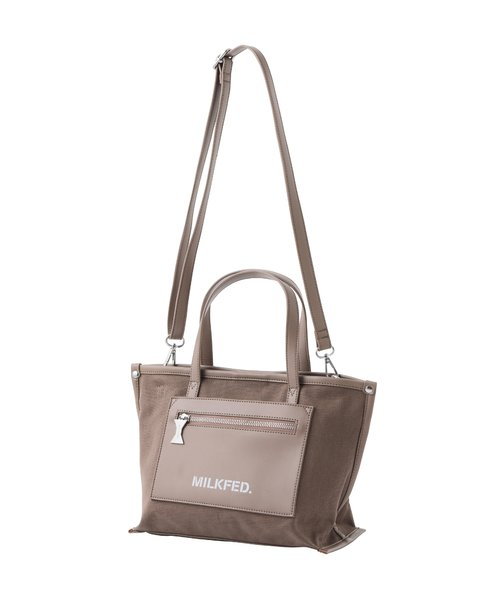 FAUX LETHER PATCH TOTE MINI