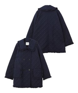 RUFFLE QUILTED COAT