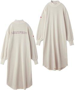 RIB NECK WAFFLE DRESS