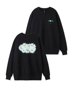 FLOWER PRINT CREW SWEAT