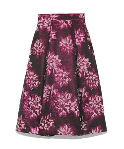 オリジナルジャガードフレアミドルスカート