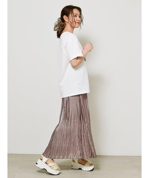 シャンブレープリーツスカート