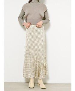 ドットジャガードナロースカート