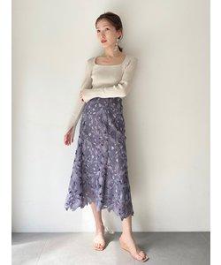 リーフレースマーメイドスカート