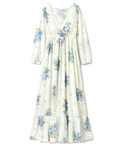 フラワーブーケカップインロングドレス