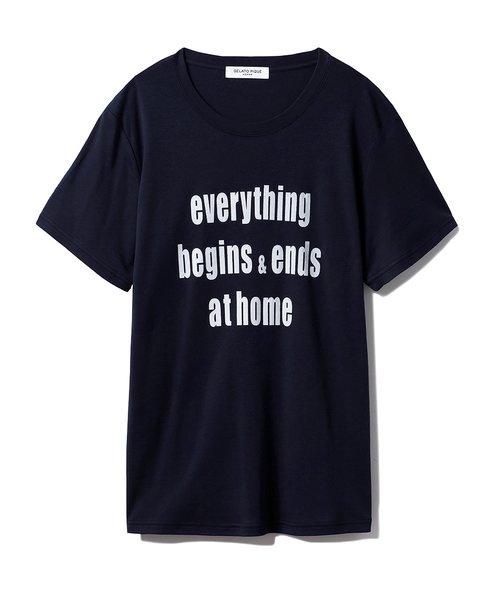 【GELATO PIQUE HOMME】ロゴTシャツ