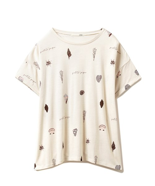 シェルモチーフTシャツ