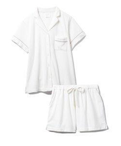 【セットアップ】パイルリブシャツ&ショートパンツSET