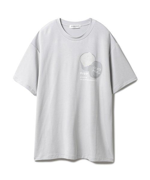 【GELATO PIQUE HOMME】リサイクルレーヨンロゴTシャツ